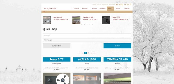 Live testen: Launch TYPO3 Quick Shop!
